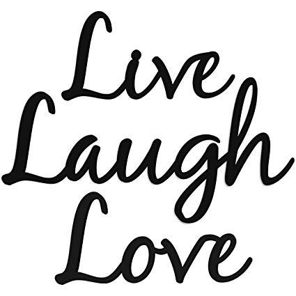 Live Laugh Love Word Art Wood Cutout.