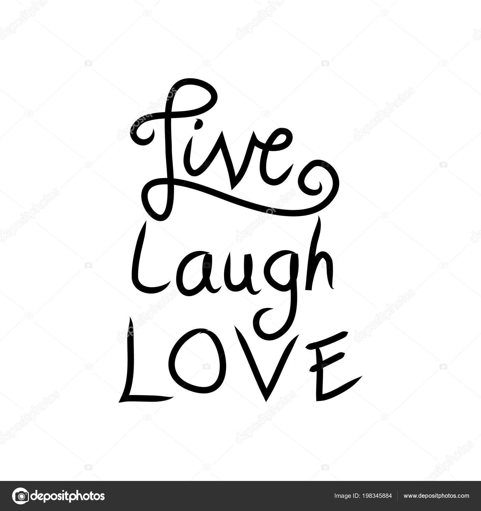Clipart: live laugh love.
