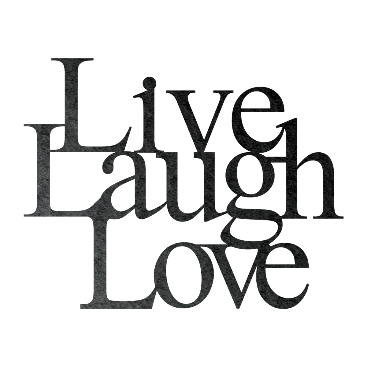 Live Laugh Love Metal Wall Sign.