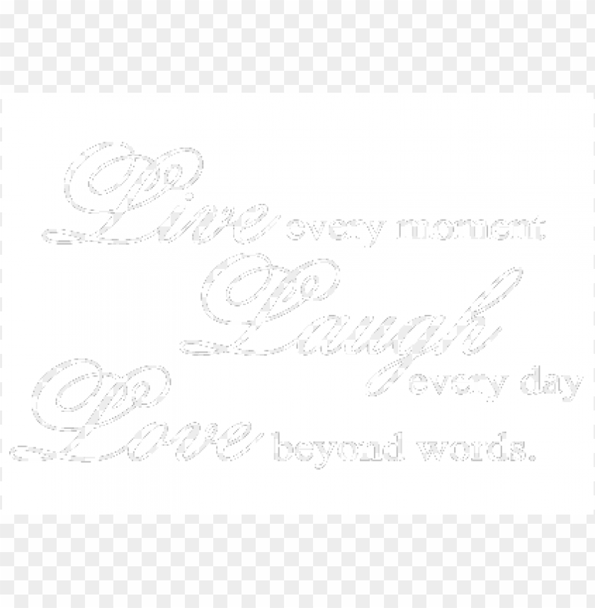 live laugh love PNG image with transparent background.