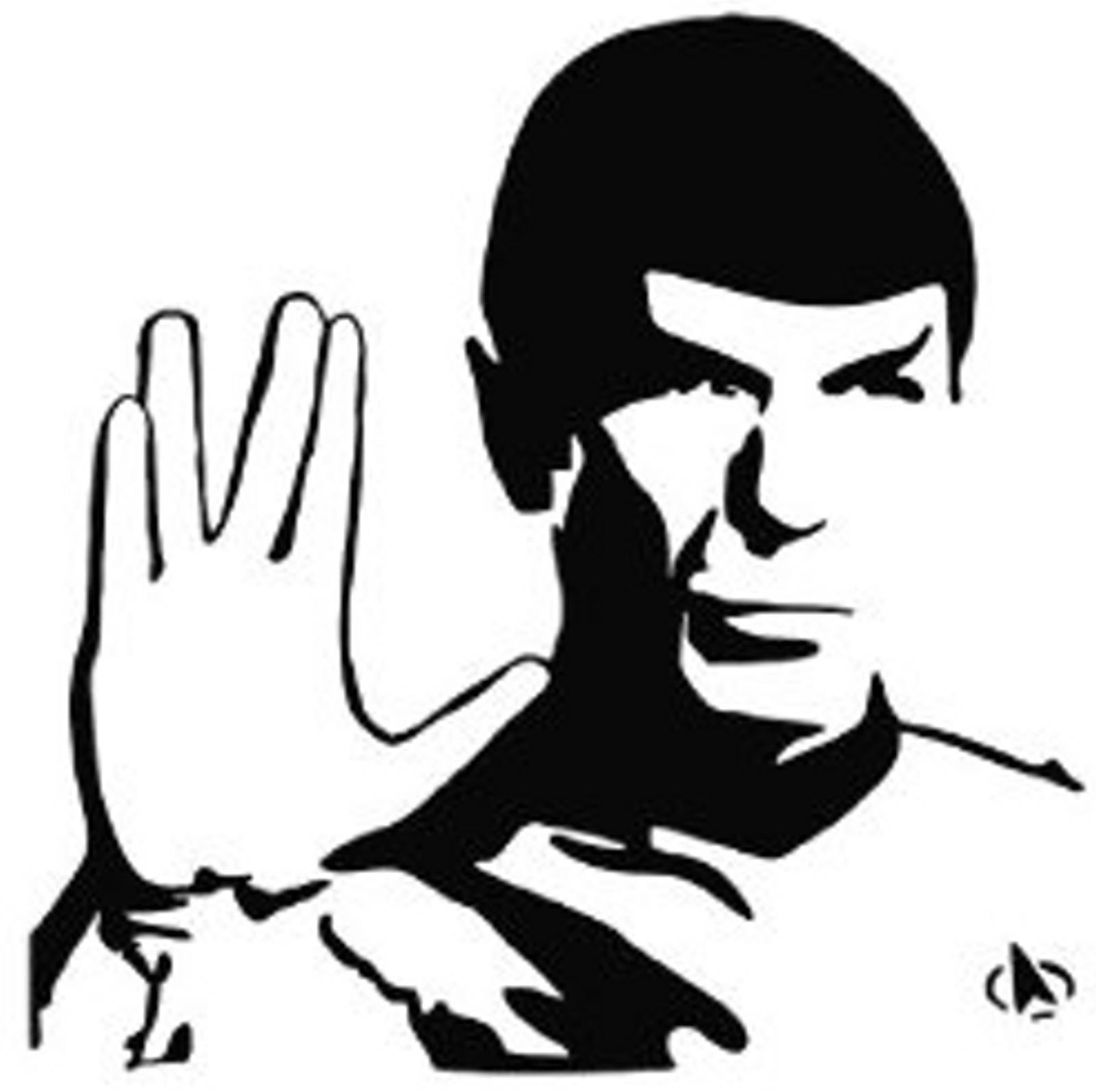 Spock Star Trek Vulcan Decal.
