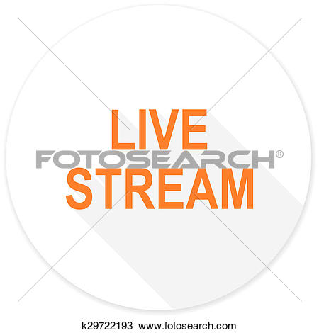 Drawing of live stream flat design modern icon k29722193.