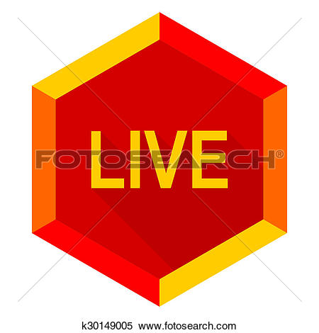 Stock Illustration of live flat design modern icon k30149005.