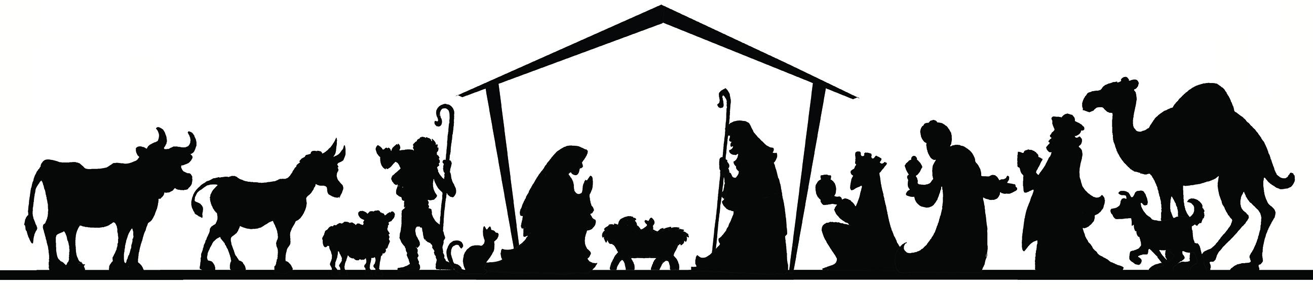 Live Nativity Scene Clipart.