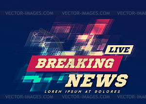Live Breaking News Can be used as design for.