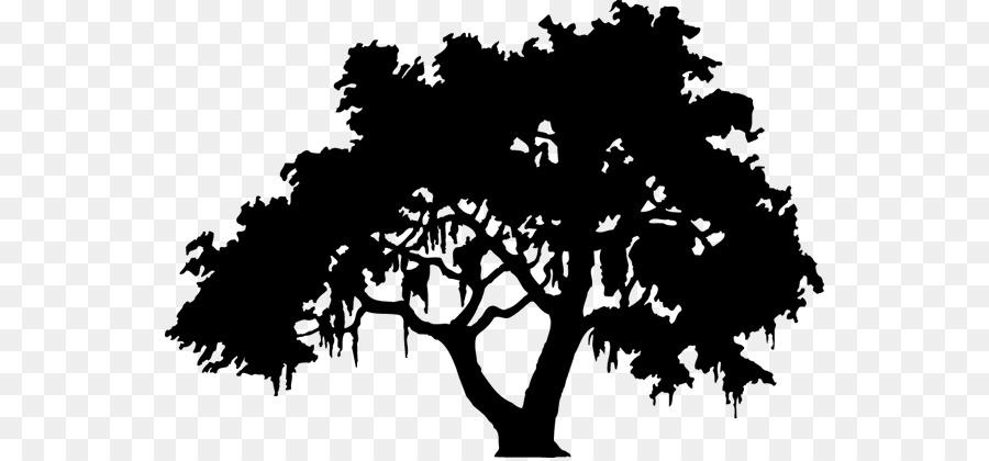 Oak Tree Silhouette.