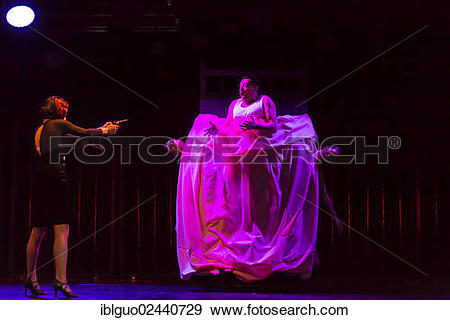 "Stock Photograph of ""Musical Chicago live performance, Le Theatre."
