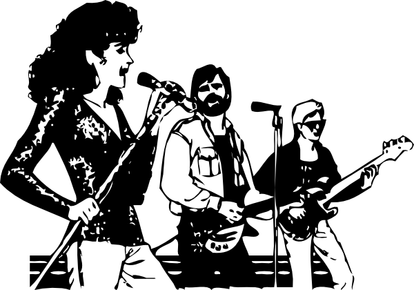 Live Singing Clipart.