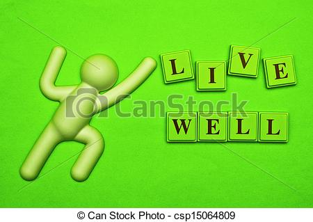 Stock Illustration of Live Well!.