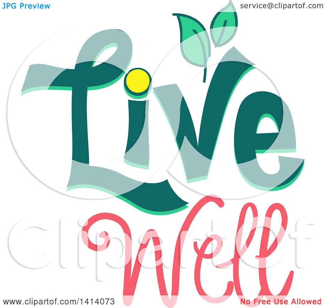 Clipart of a Live Well Design with Leaves.