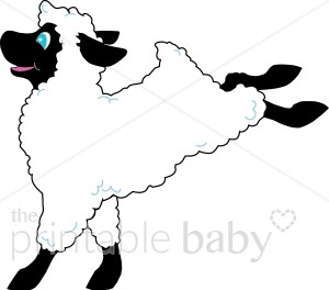 Lively Lamb Clipart.