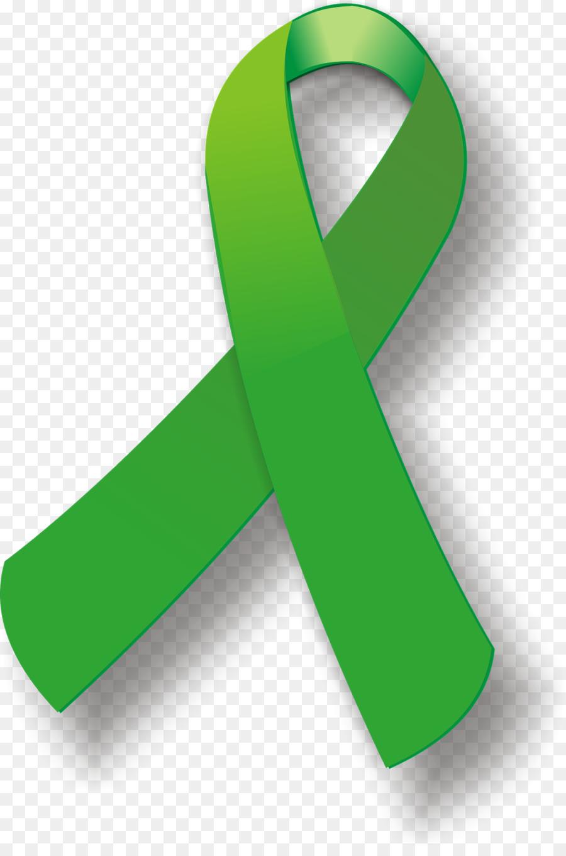 Awareness ribbon Green ribbon Liver cancer Clip art.