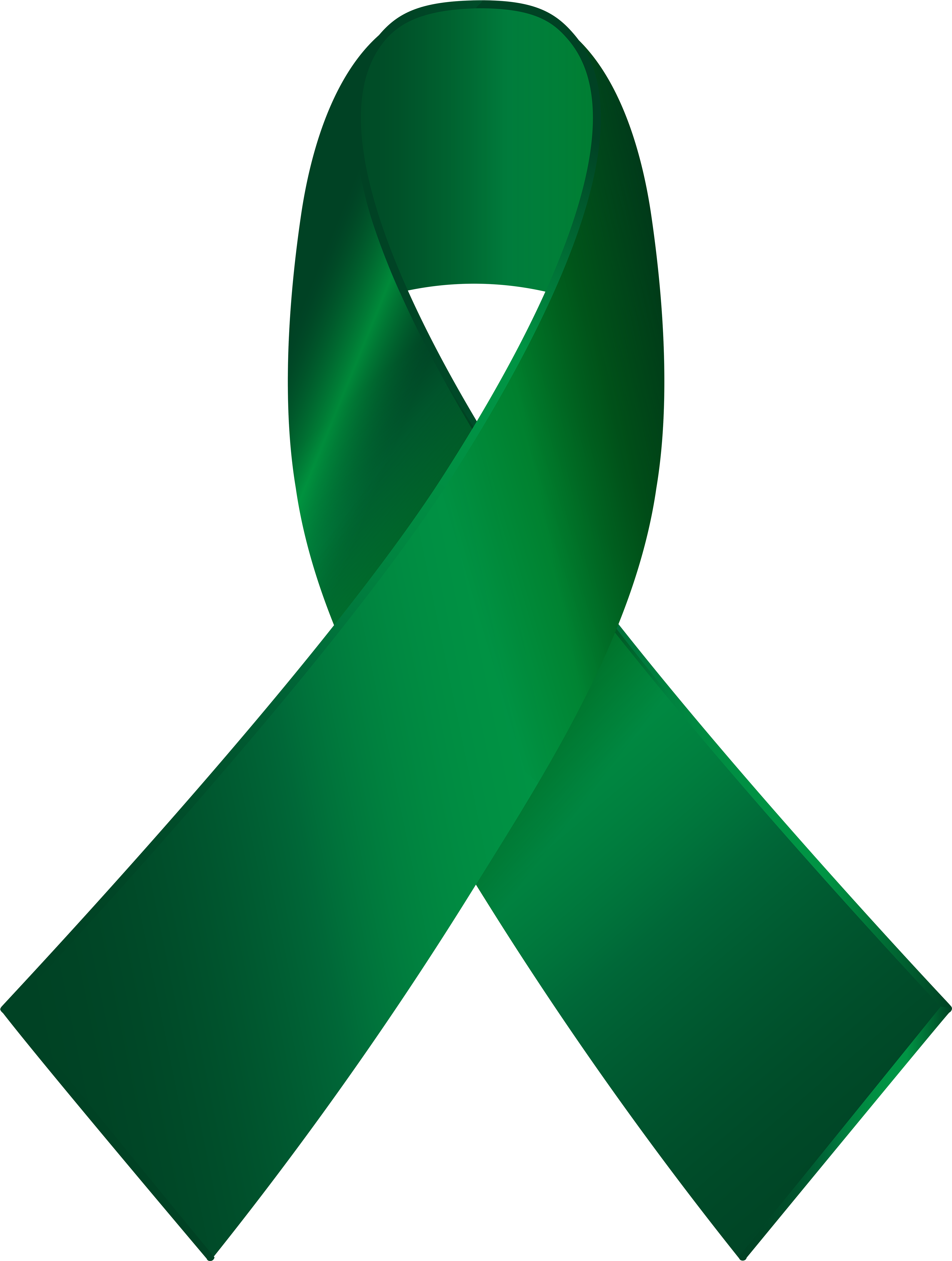 Green Awareness Ribbon Png Clip Art.