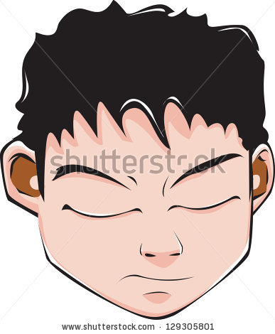 Bad Tempered Man Stock Vector 79355713.