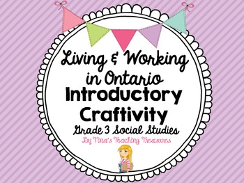 Living and Working in Ontario Craftivity.