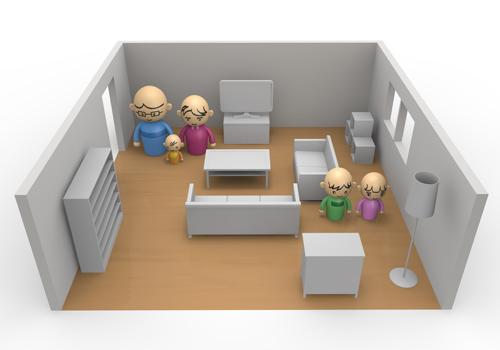 Furniture / layout / Flat.
