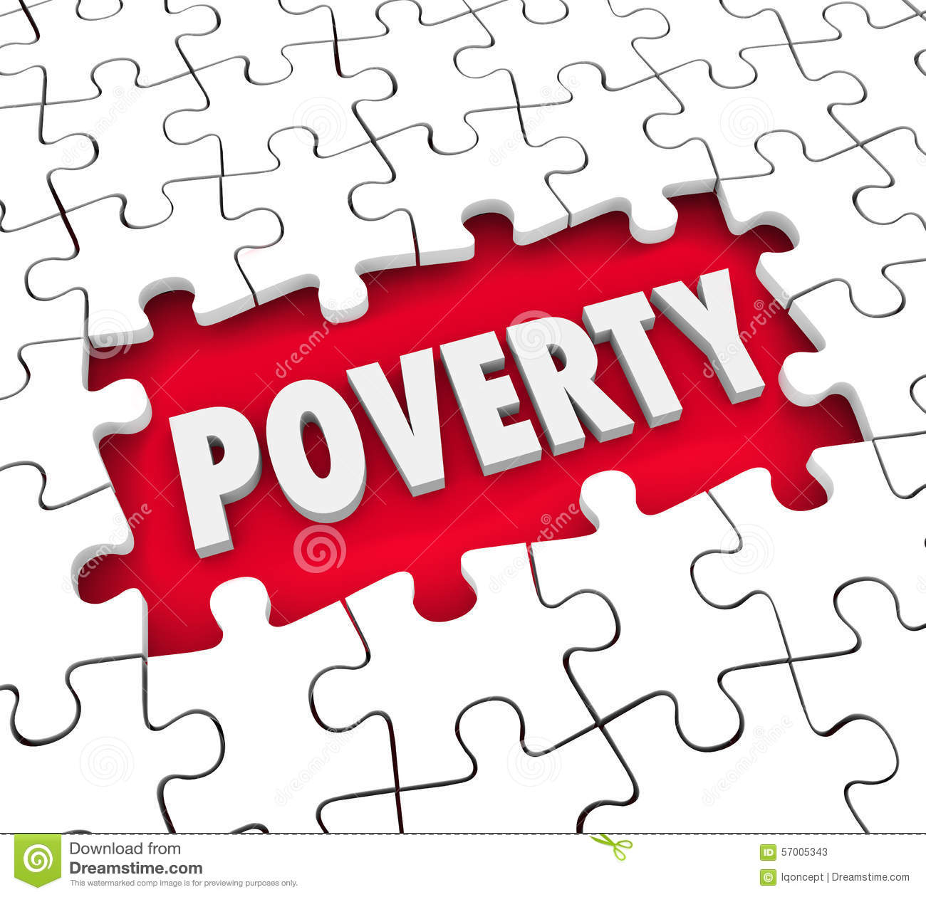 Poverty Puzzle Hole Poor Living Conditions Hunger Puzzle Pieces.