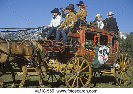 Stock Images of Living History participants in wagon train near.