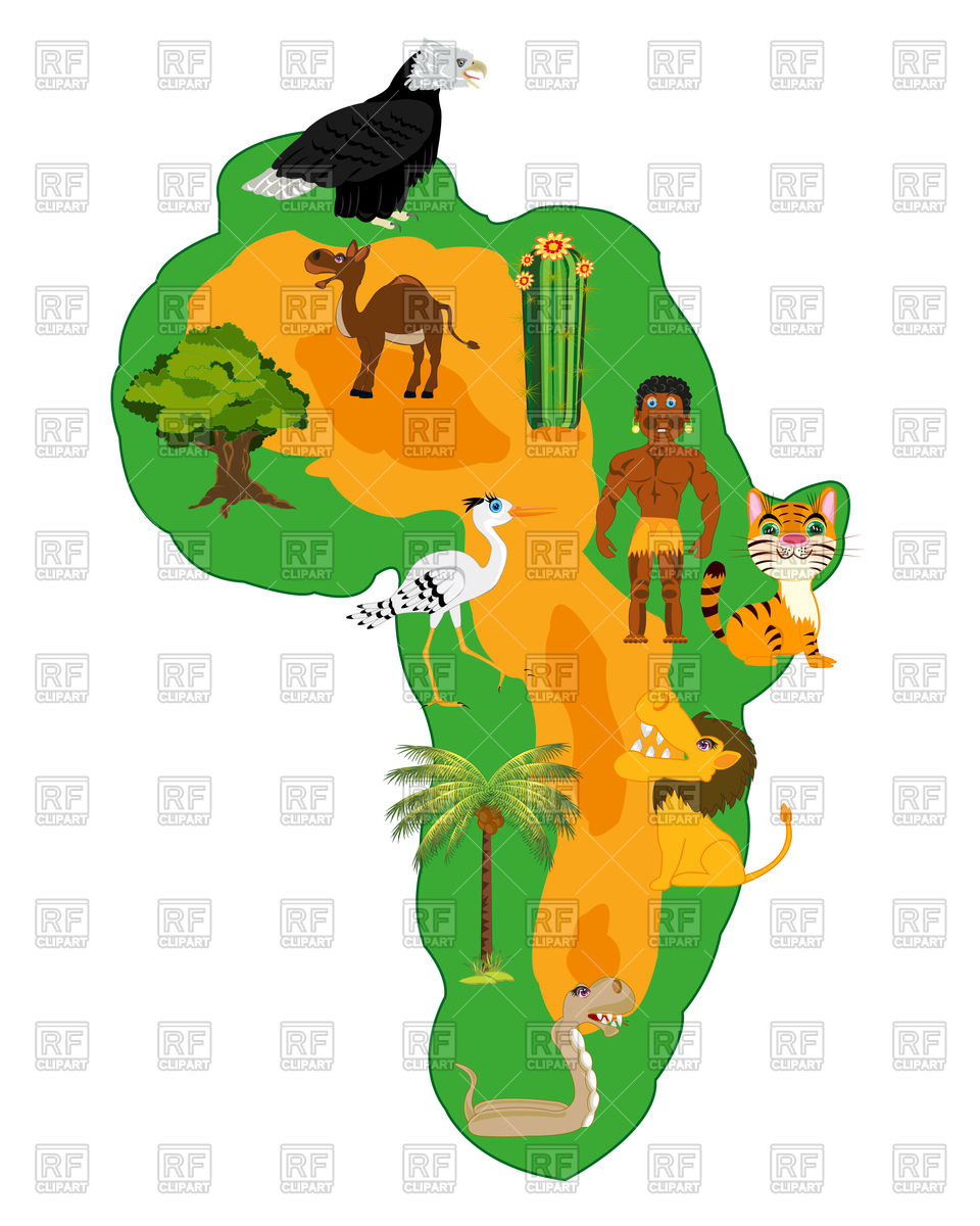 Living nature and plants of the continent africa Vector Image.