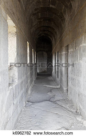 Stock Photo of corridors to living quarters dis.