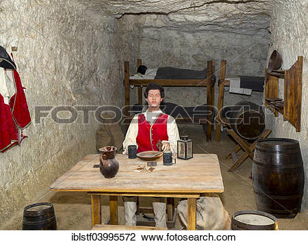 "Stock Photo of ""Replication of living quarters, Fort Marlborough."