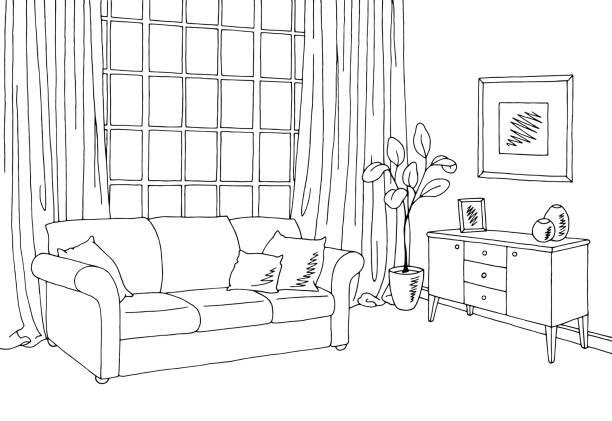 Art Room Clipart Black And White.
