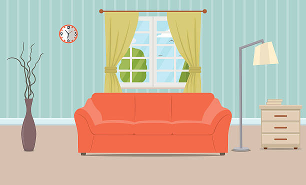 Picture Of Living Room Clipart.