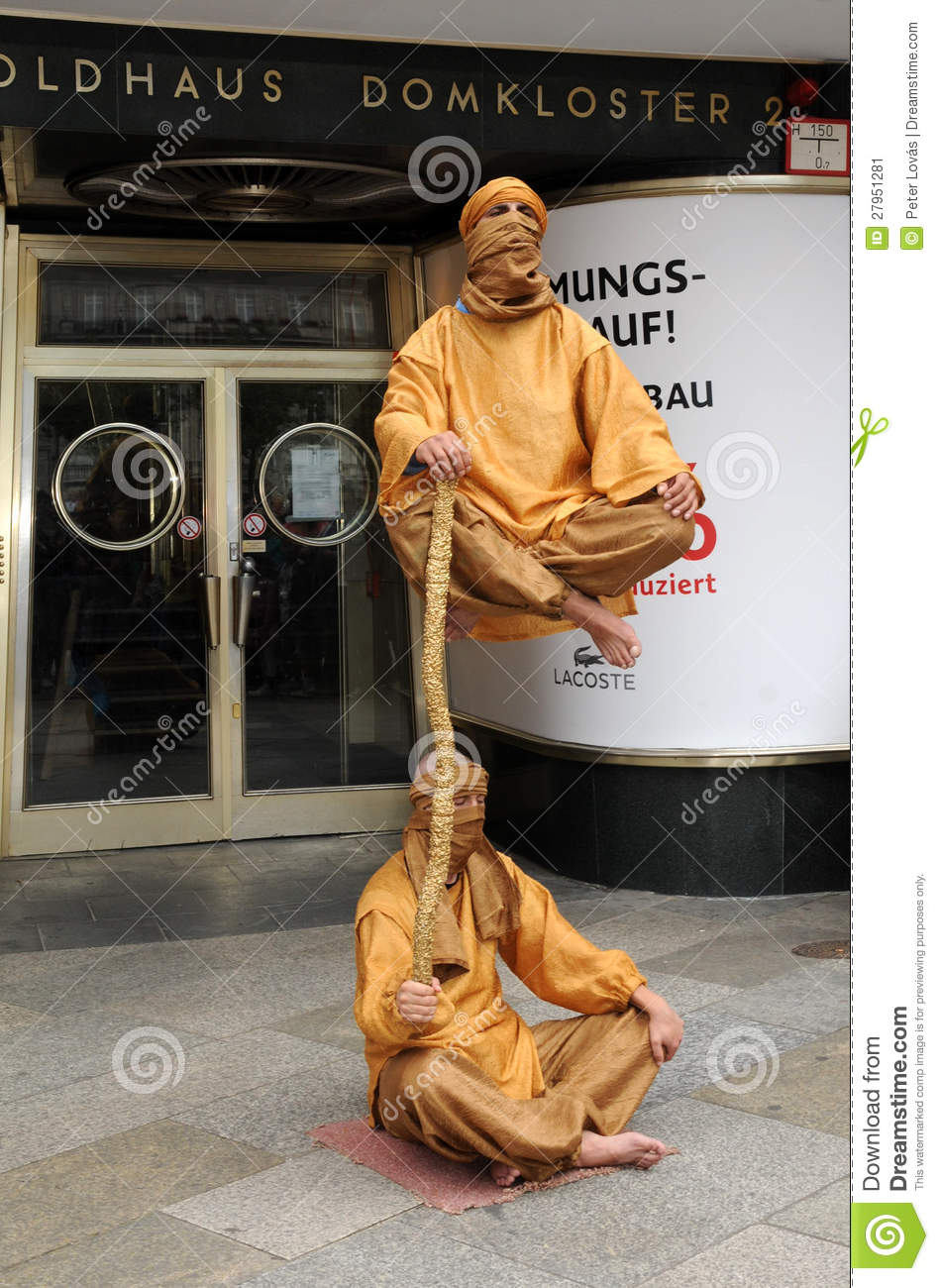 Fakir Living Statues Editorial Photo.