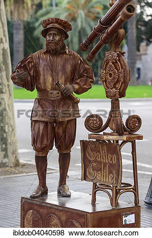 "Pictures of ""Mime, living statue, street artist, depicting Galileo."