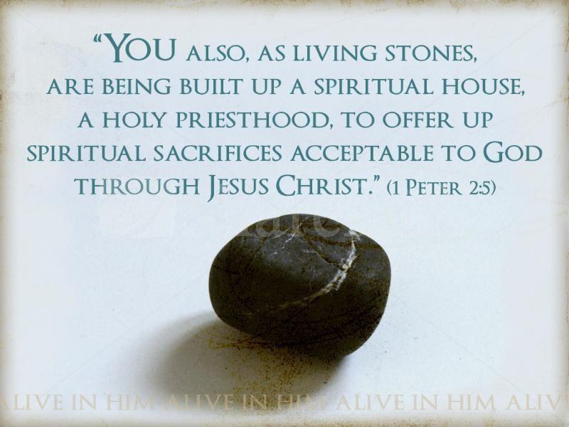 Living Stones Christian Clipart.