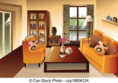 Living room furniture Vector Clip Art EPS Images. 7,935 Living.