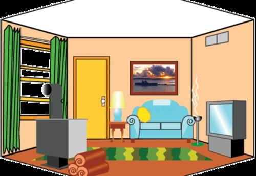 Interior Design Clip Art: Livingroom Clipart
