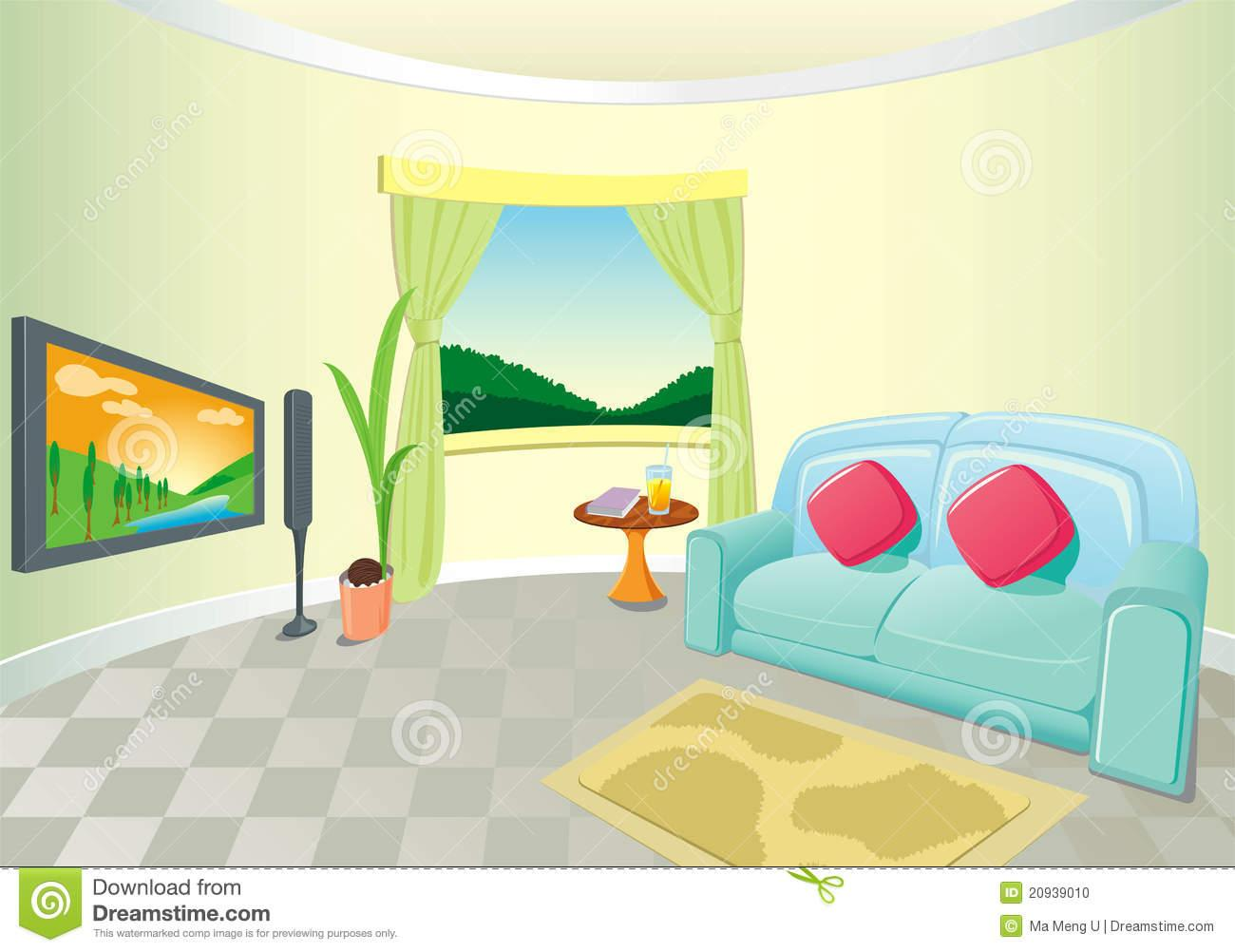 Livingroom clipart clipground for Room design vector