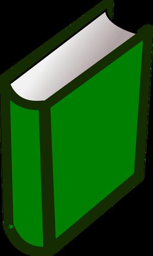 Clipart de livro de capa dura verde.