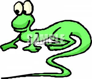 A_green_lizard_with_two_large_eyes_110123.