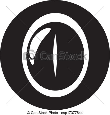 EPS Vector of lizard eye csp17377844.