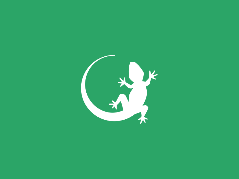 Lizard logo by Damian Patkowski on Dribbble.