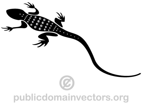 Lizard Silhouette Vector.
