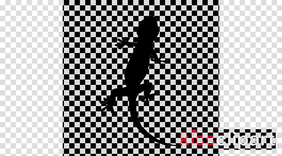 gecko lizard silhouette reptile scaled reptile clipart.