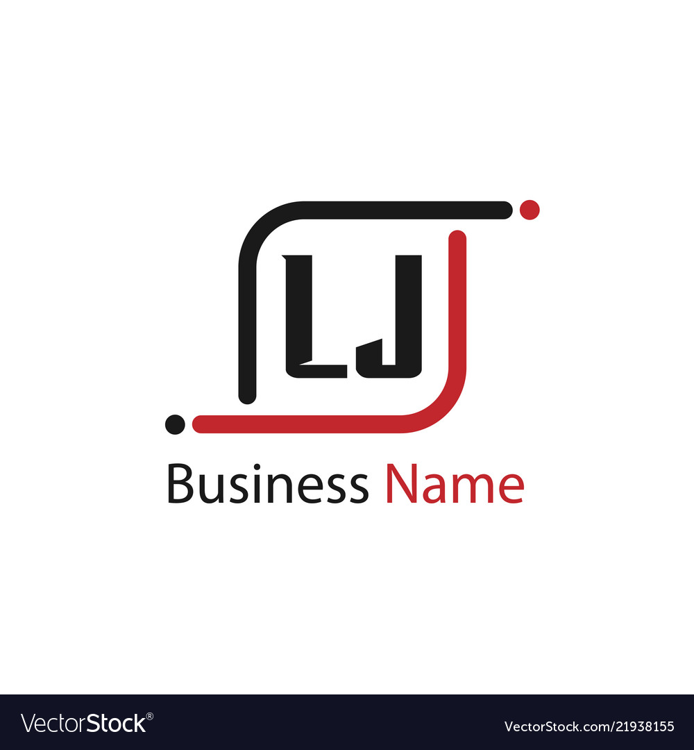 Initial letter lj logo template design.