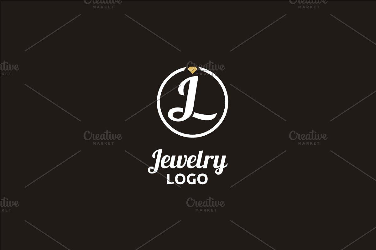 Diamond Jewelry Initial JL LJ logo.