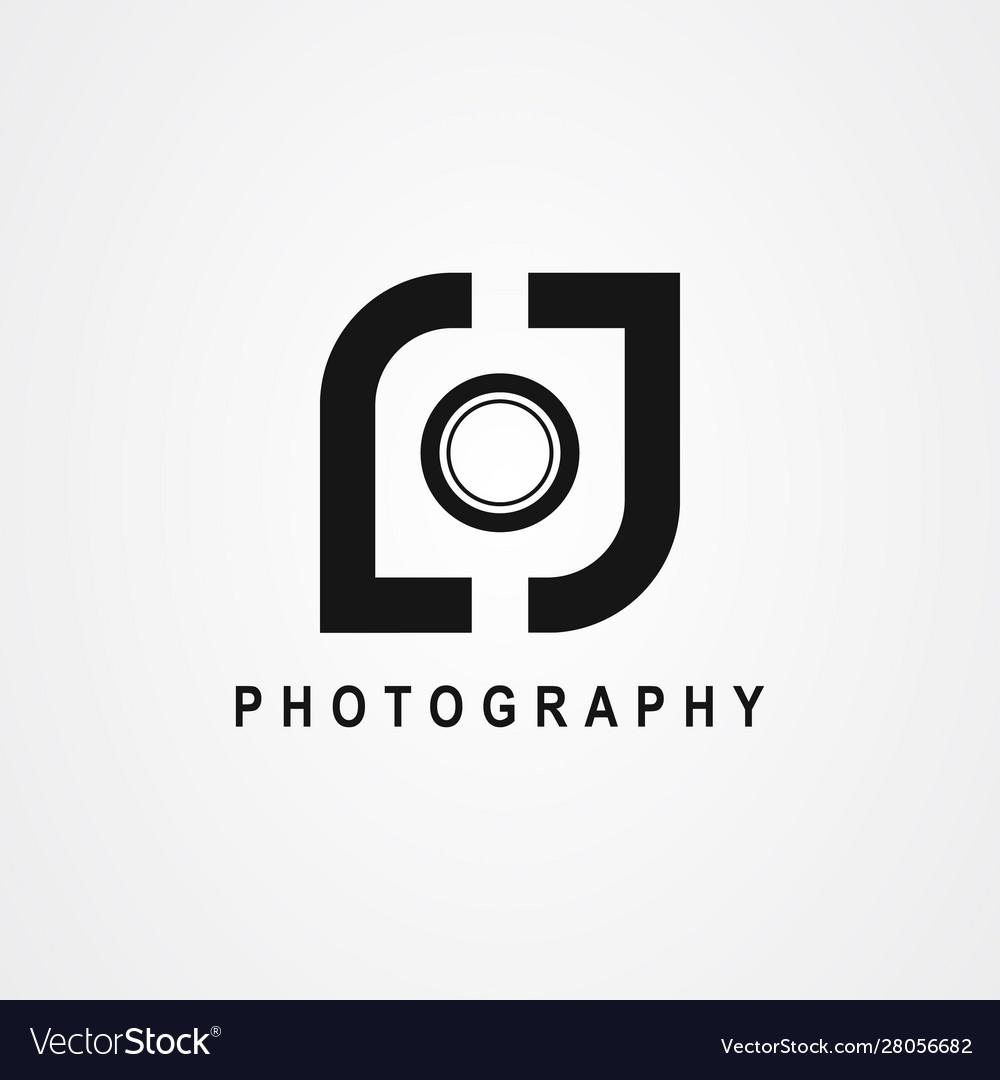 Letter lj or initial lj for photography logo.