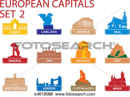 Ljubljana Clip Art Vector Graphics. 261 ljubljana EPS clipart.