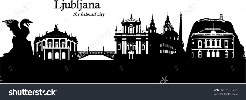 Ljubljana Skyline Stock Vector 175135205.