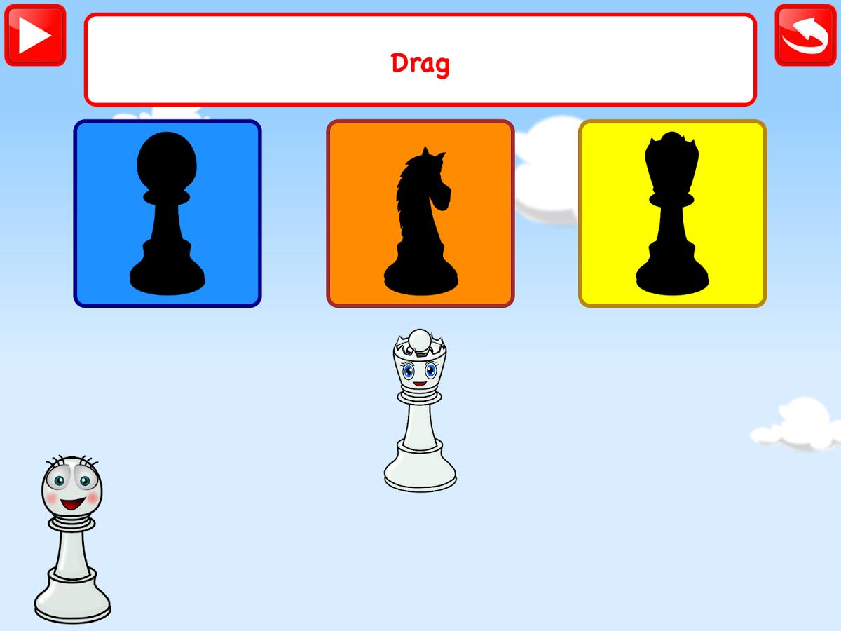 Schachspiel für Kinder Deutsch.