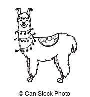 Llama clipart black and white 2 » Clipart Station.