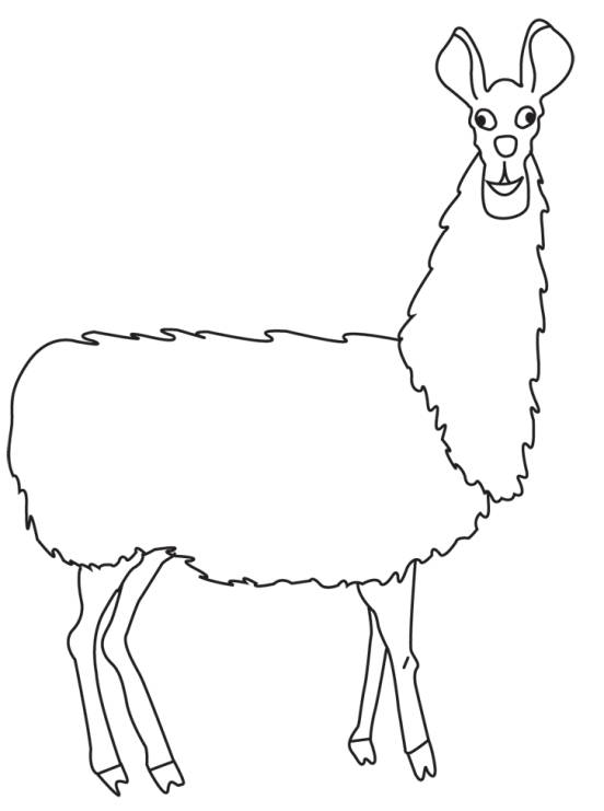 Free Llama Black And White Clipart, Download Free Clip Art.