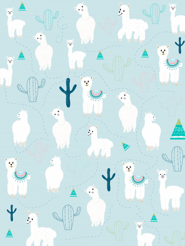 Llama and cactus clipart bundle, no drama llamas graphics.