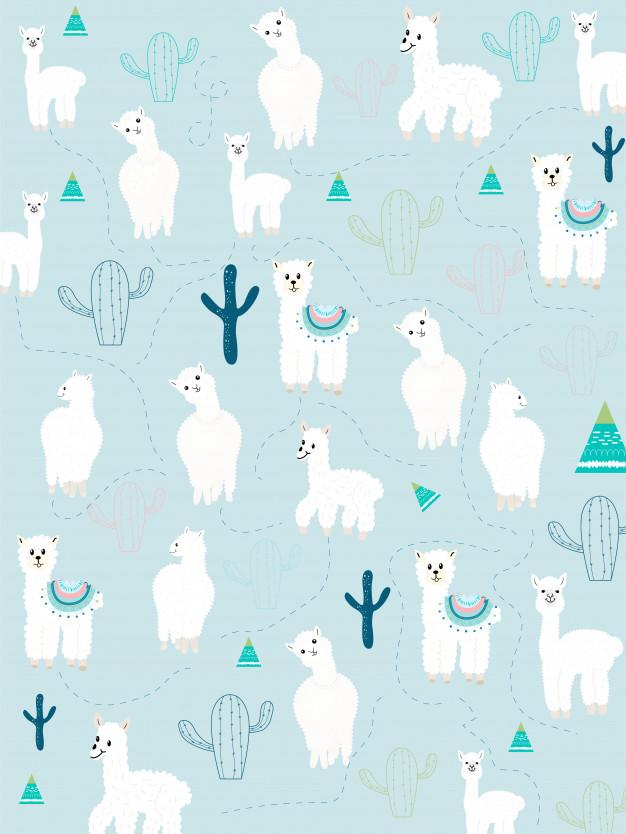 Llama and cactus clipart bundle, no drama llamas graphics.