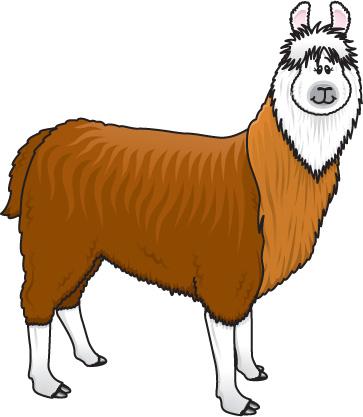 Llama clip art.